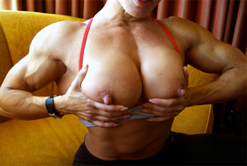 BIG nipples and big muscle